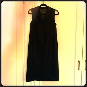 Elie Tahari black button down dress